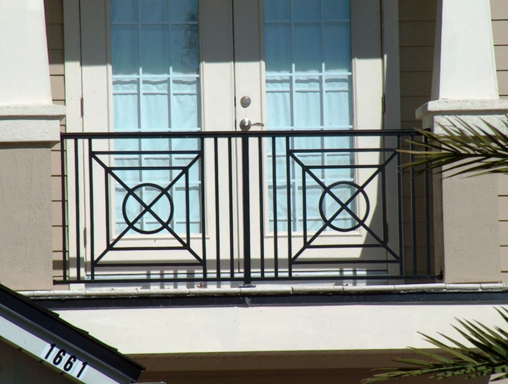 Custom Aluminum and Wrought Iron Balcony or Deck Railing 2