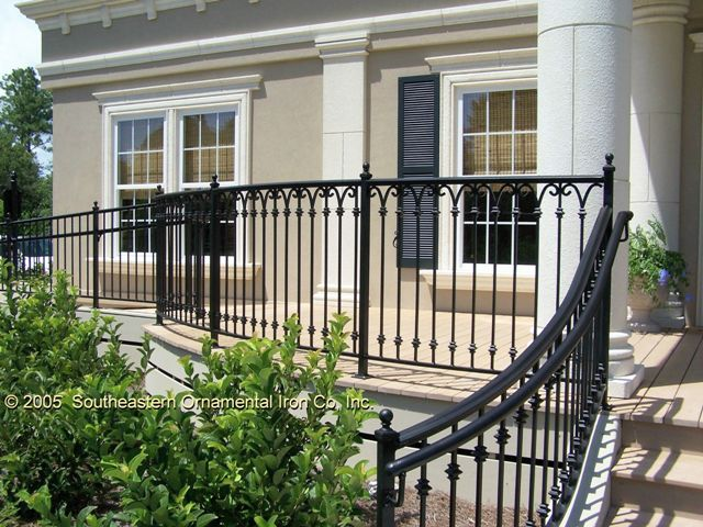 Railings porch railings and iron railings on pinterest for French balcony railing