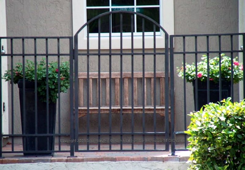 Walk gates garden courtyard security
