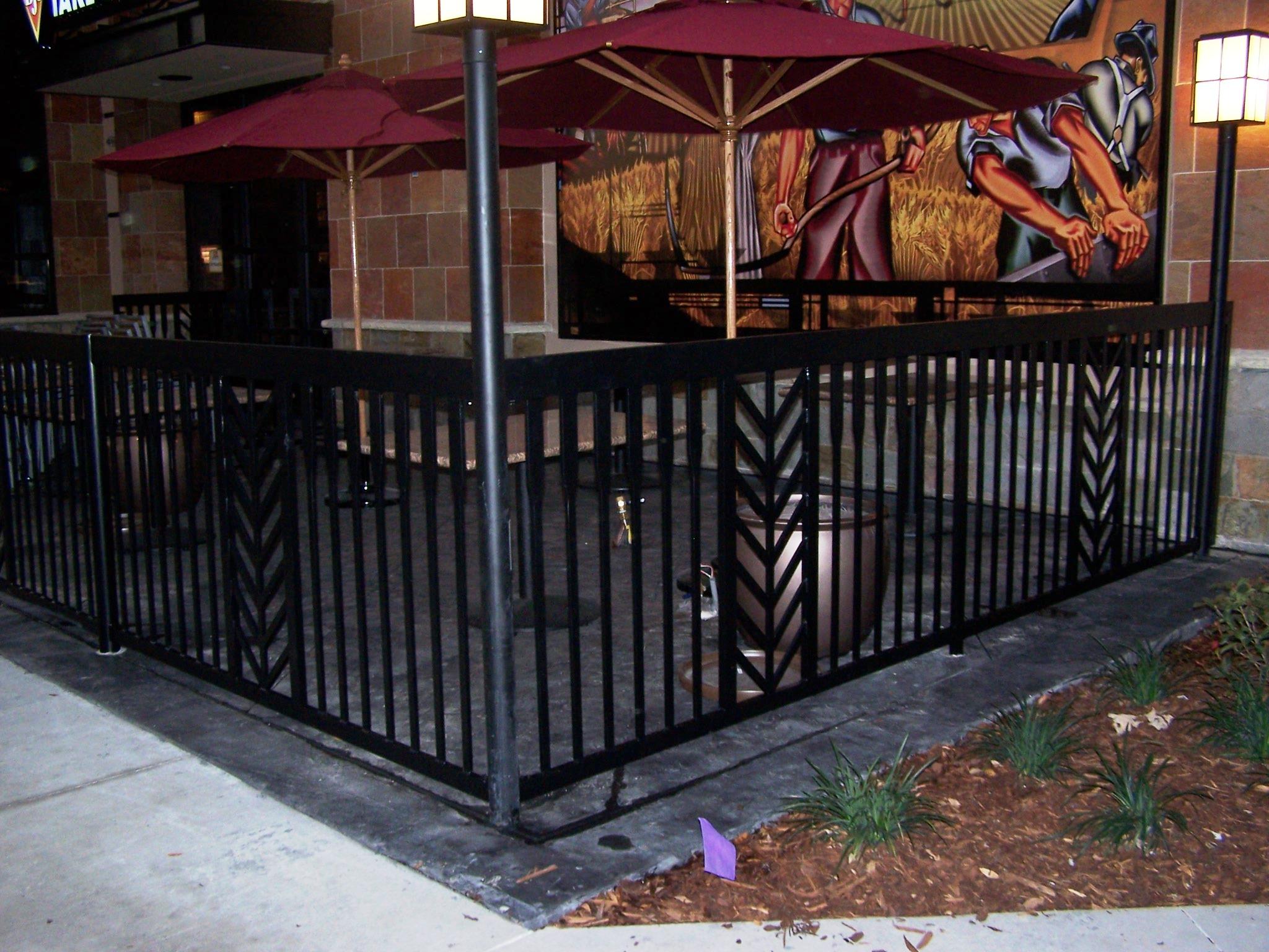 Commercial railing decorative art deco glass handicap fdot for Decorative railings