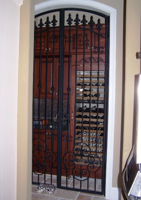 wrought iron wine door ... & Door Grilles / Wine Doors