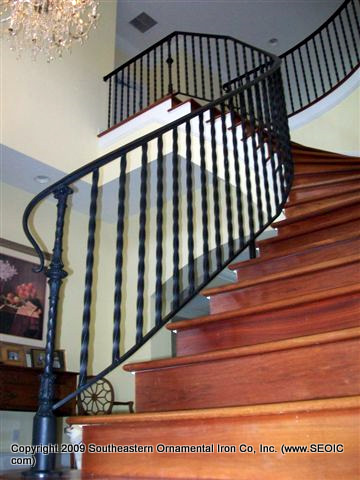 ... Wrought Iron Stair Rail (#SR 76) ...