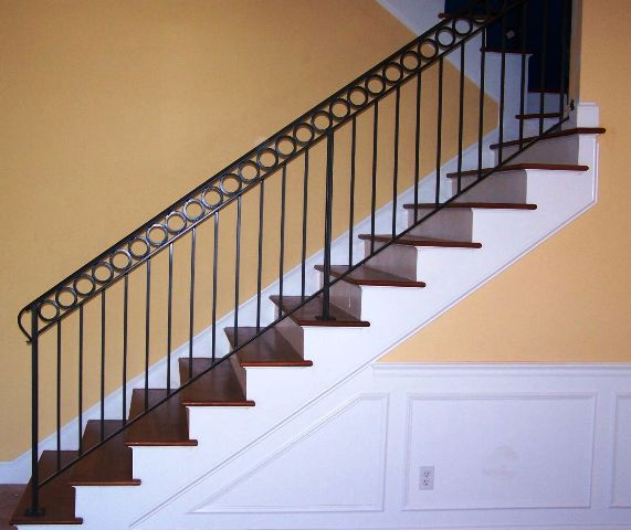 Stair rails for Iron stair railing