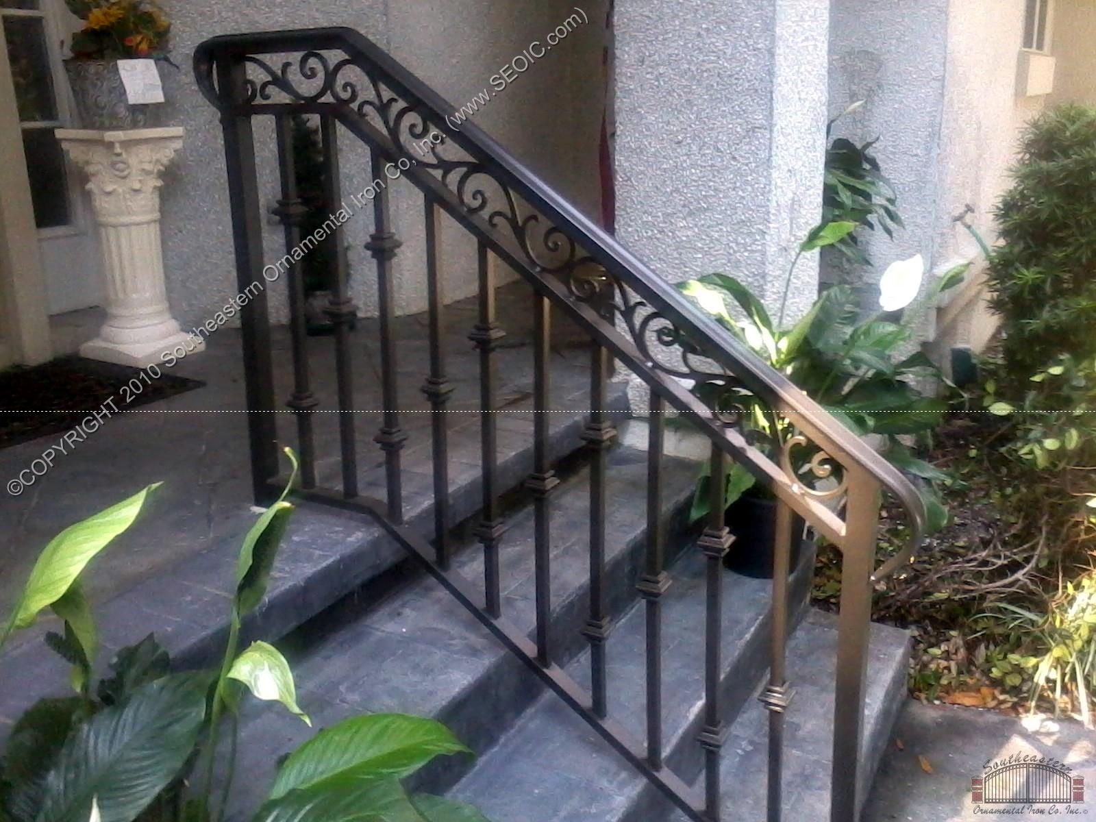 Porch and step rails for Garden decking handrails