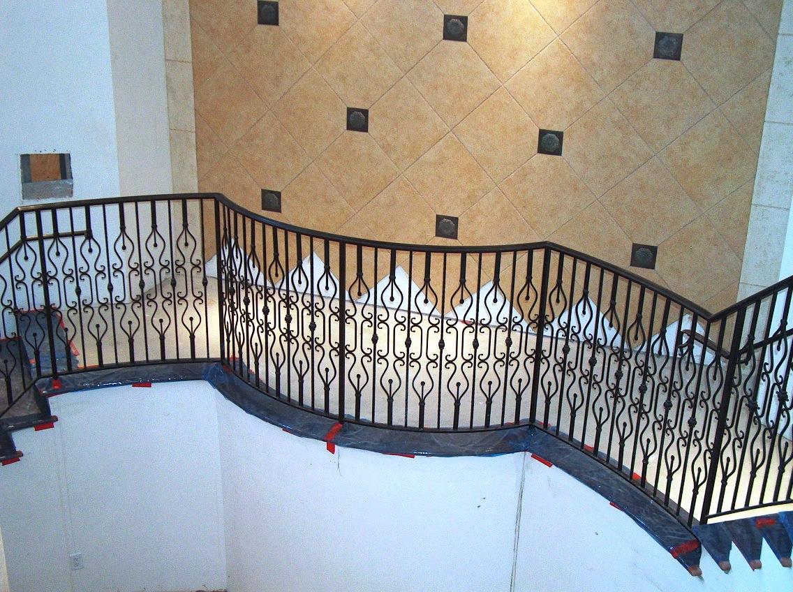 ... Wrought Iron Stair Railing Aluminum ...
