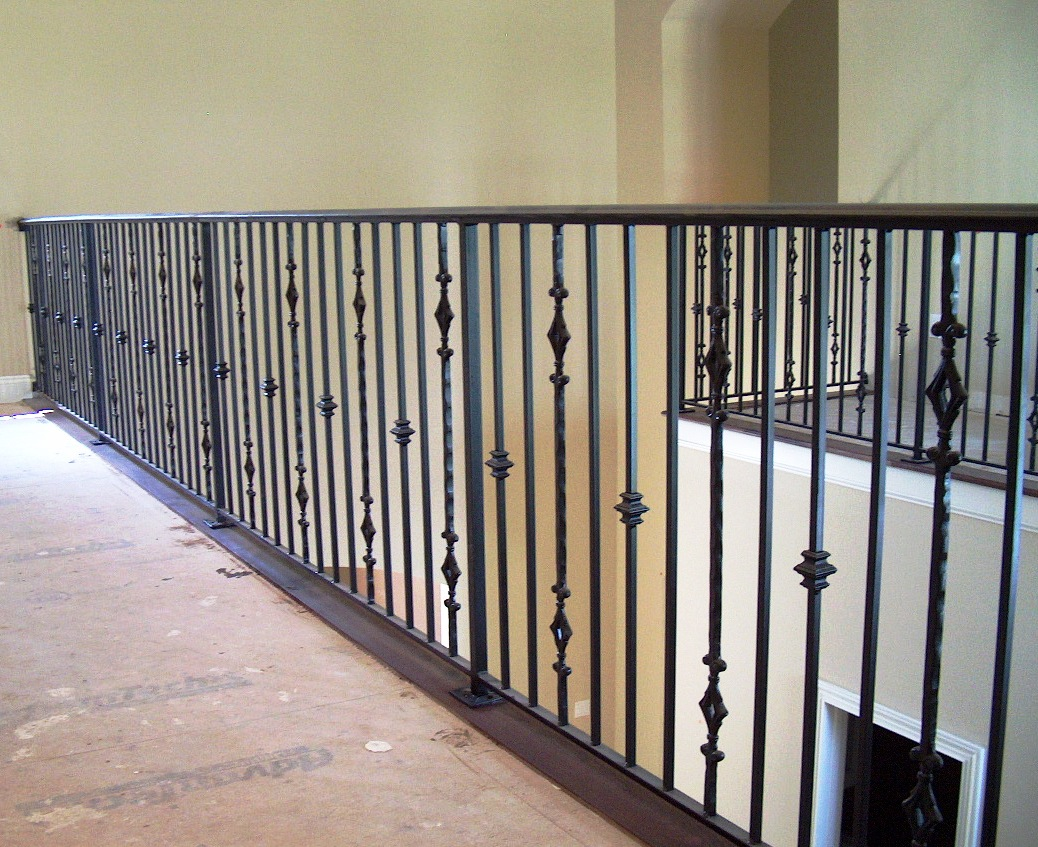 Seoic012056 Front Porch Railing Railing Shaped To Slope Wrought Iron  Cathedral Pattern ...
