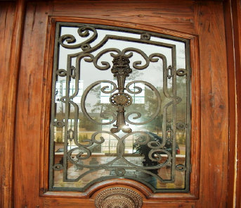 wrought iron door grilles, window grilles