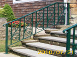 Exterior Railing with Ornate Castings (#PR-10)