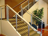 Stainless Steel Cable Stair Railing w/ Wood Cap(#CR-11)