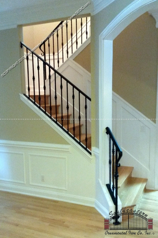 Wrought Iron Stair Railing 3