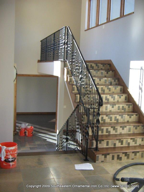 ... Wrought Iron Stair Railing (#SR 88) ...