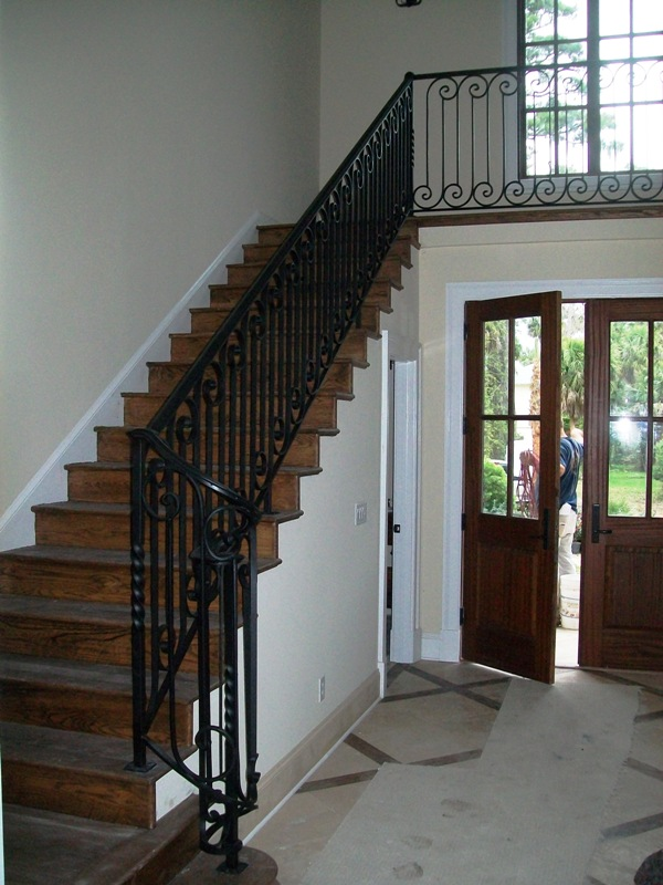 Charmant ... Wrought Iron Stair Rail (#SR 68) Wrought Iron Porch Railing ...